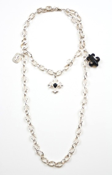 Fleur-De-Lis-Dual-Layer-Necklace-Top