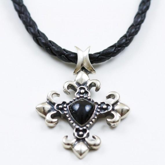 Fleur-De-Lis-Fabric-Necklace