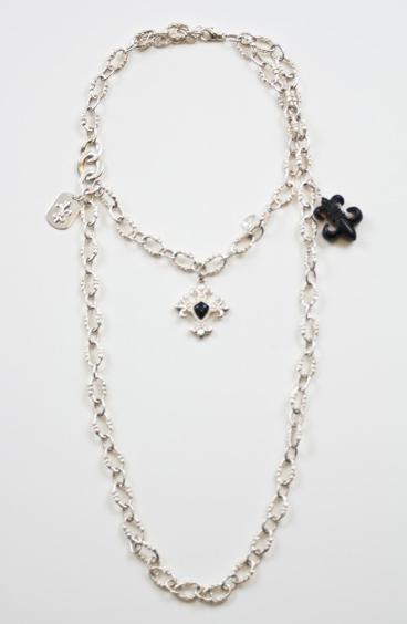 Fleur-De-Lis-Single-Layer-Bracelet