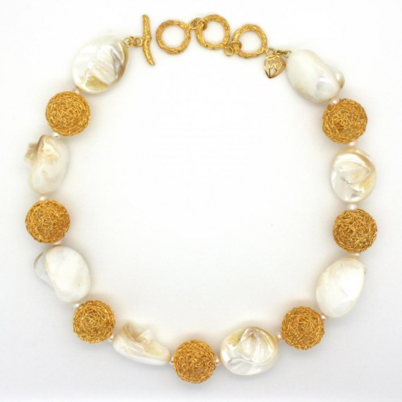 Gold-Dandelion-Shell-Necklace-Top