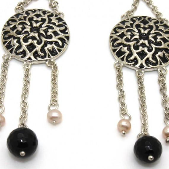 Lace-Coin-Silver-Earrings-Detail