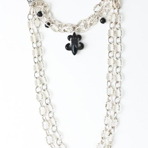 Lace-double-layer-Fleur-De-Lis-Bracelet-w-black-onyx-Top