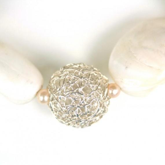 Silver-Dandelion-w-Shell-Bracelet-Detail