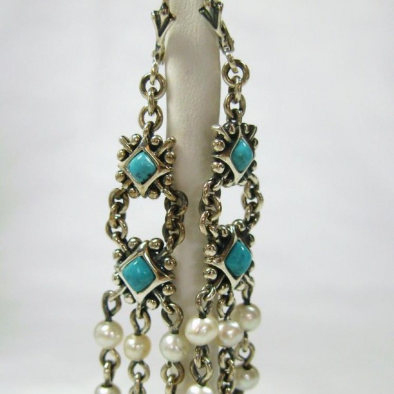 Silver-Earrings-w-Turquoise-and-Vailla-Pearls